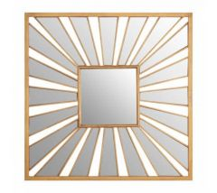 Zara Square Sunburst Gold Mirror