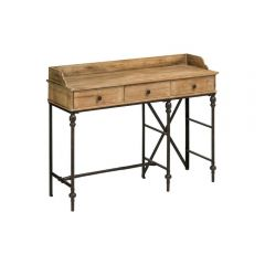 Industrial Fir Wood Console Table With Drawers