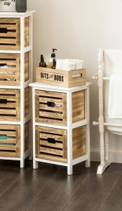 Paulownia Natural Bathroom 2 Drawer Chest