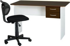 Wenge and White 2 Drawer Study Desk