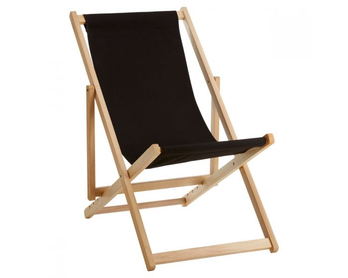 Angelina Black Deck Chair