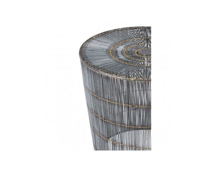 Trinity Natural Gold Wireframe Side Table