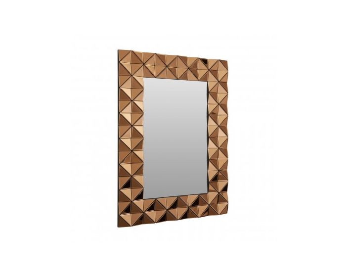 London Smoked Copper Glass Mirror
