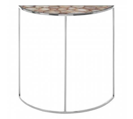 Agate Half Moon Console Table