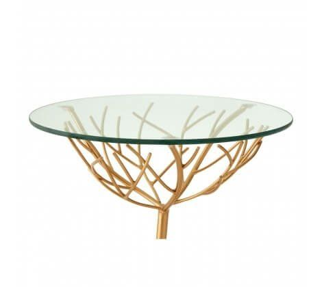 Alexa Branch Base Gold Side Table