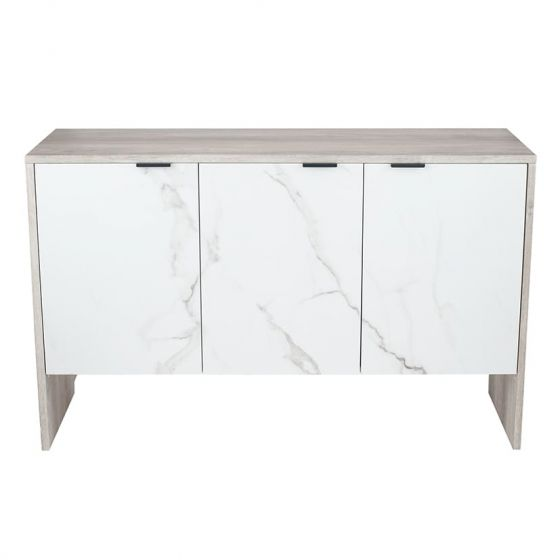 Alivia Grey and Marble Effect 3 Door Sideboard