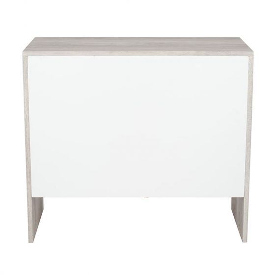 Alivia Grey and Marble Effect 3 Drawer Chest