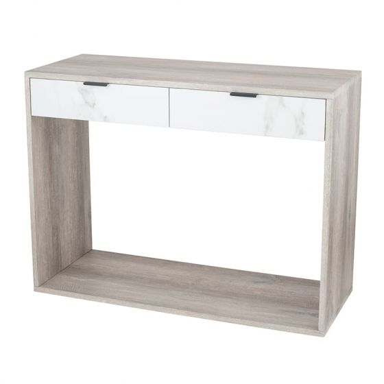 Alivia Grey and Marble Effect Console Table