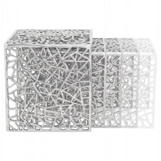 Aluminium Cut Out Design Nest Of Tables