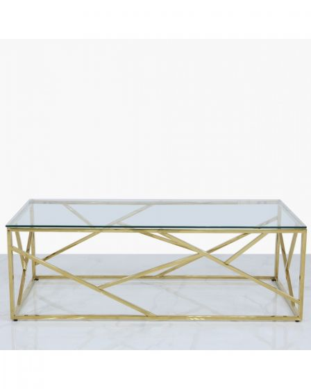 Amber Gold Metal Coffee Table