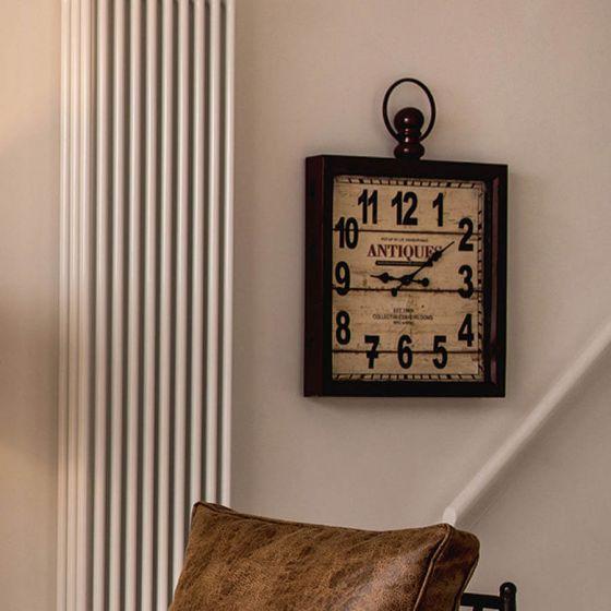 Bloomsbury Cream and Rustic Iron Clock