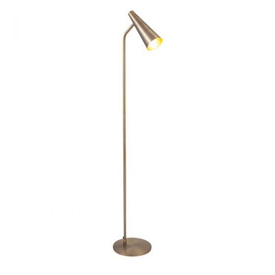 Antique Brass Conical Head Task Floor Lamp