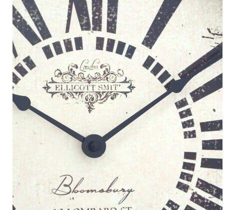 Antique White Metal Wall Clock