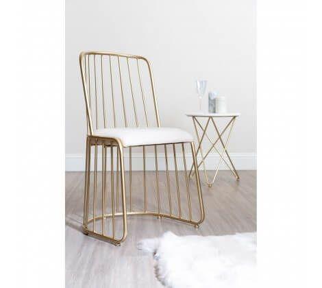 Art Deco White Linen Chair