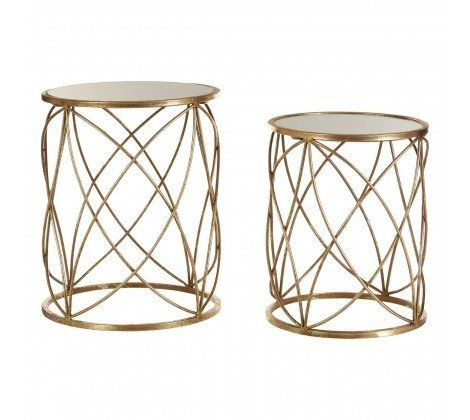 Arcana Gold Glitzy Side Tables