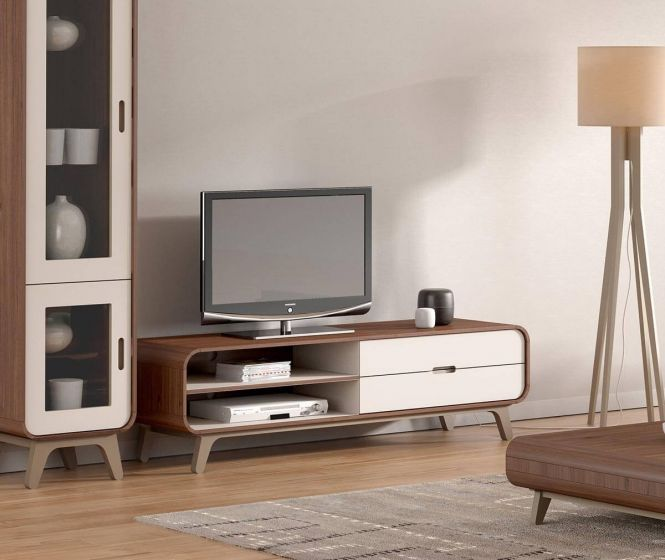 Arcus Walnut and Warm Tea TV Units