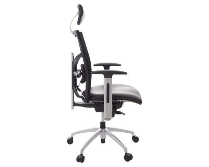 Arfas Black Faux Leather Ergonomic Office Chair
