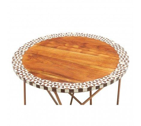 Artisan Round Acacia Side Table