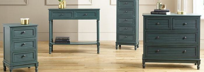 Ashwell Teal Pine Console Table