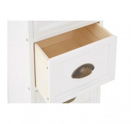 Austin White C 6 Drawer Narrow Chest