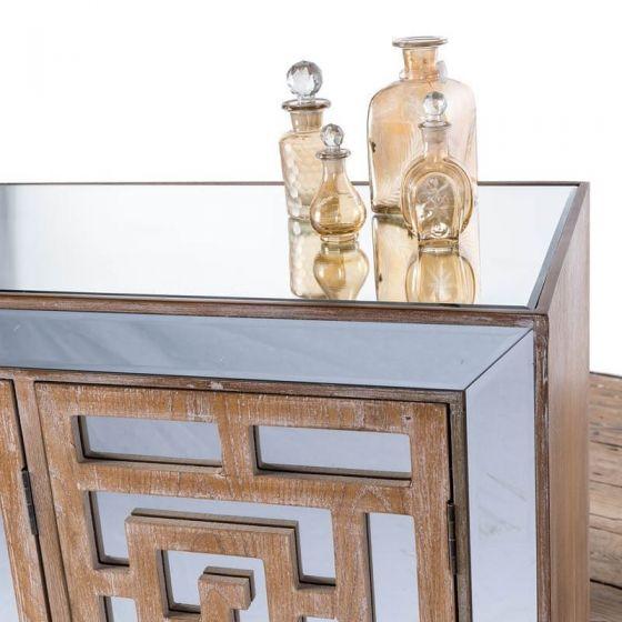 Azur Mirrored Two Door Cabinet