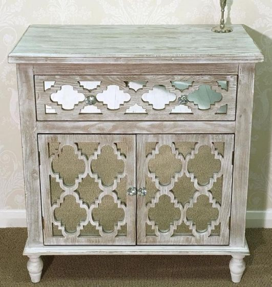 Beach Walk Mirrored 1 Drawer and 2 Door Sideboard