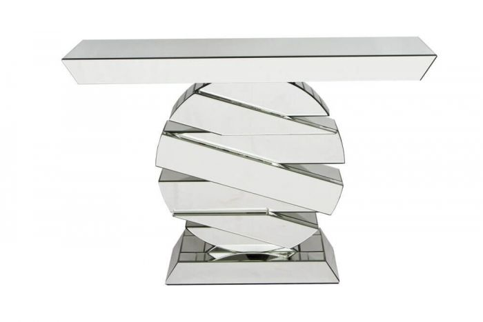 Belmont Clear Mirrored Round Centre Console Table