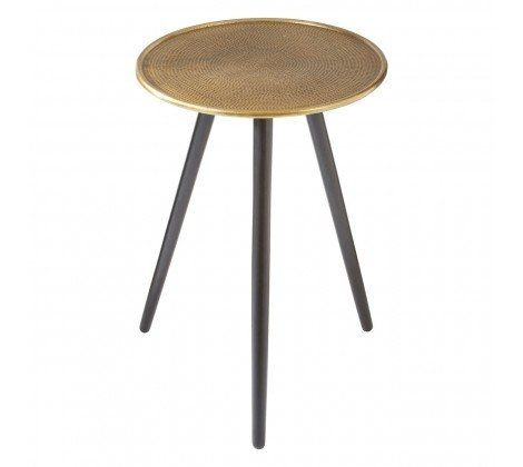 Berry Gold Tripod Side Table