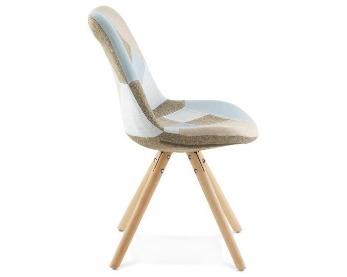 Birgit Pastel Natural Patchwork Chair