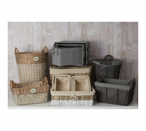 Black and Grey Lida Rope Storage Baskets