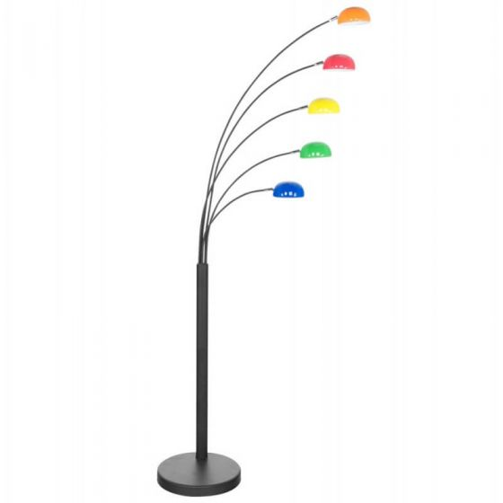 Black and Rainbow Floor Lamp