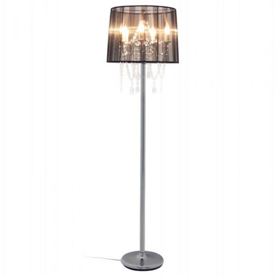 Black Traditional Jewel Floor Lamp