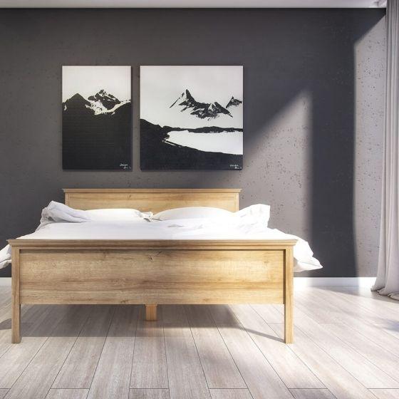 Borg Oak Effect Scandi Bed Frame