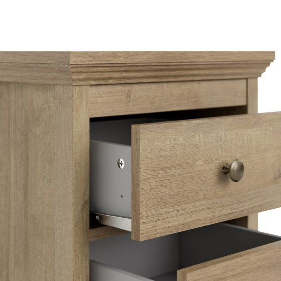 Borg Oak Effect Scandi Bedside
