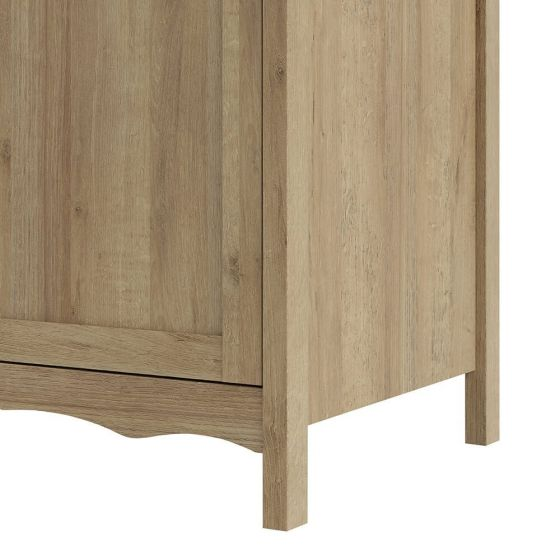 Borg Oak Effect Scandi Triple Wardrobe