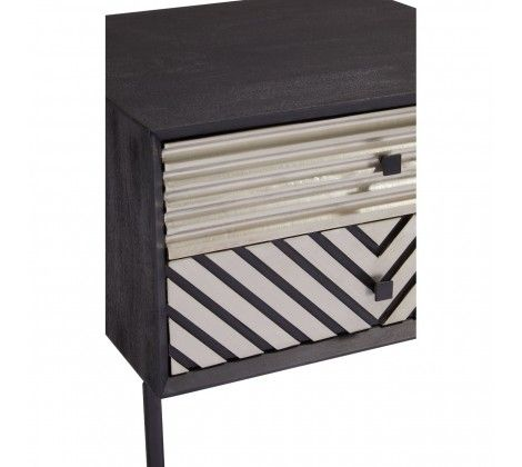 Bovo Mango Wood Bedside Table