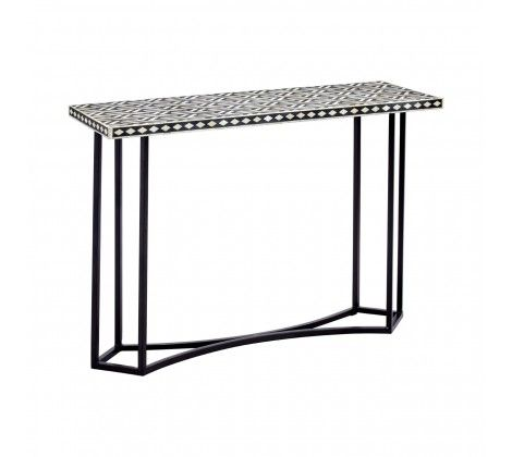 Bovo Metal Console Table with Sheesham Wood