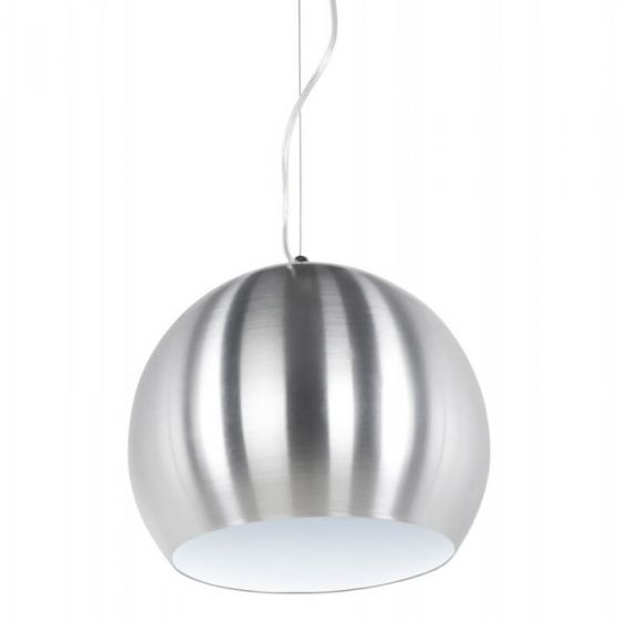 Brushed Steel And White Ceiling Light