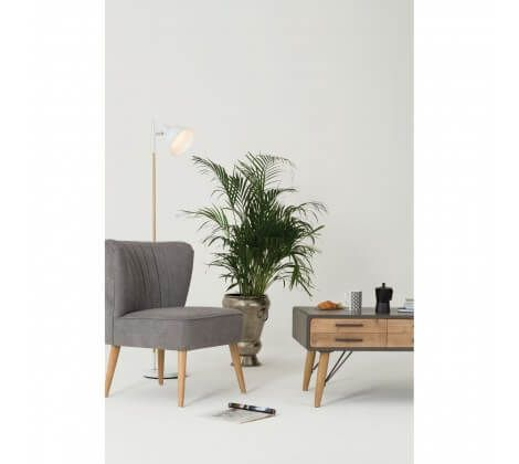 Byran Scandinavian White Wood Floor Lamp