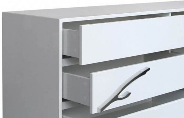 California White 1 Drawer Bedside Cabinet