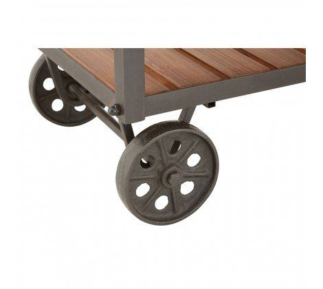 Industrial Cart Style Side Table