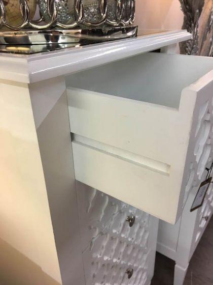 Costa White Bedside Cabinet