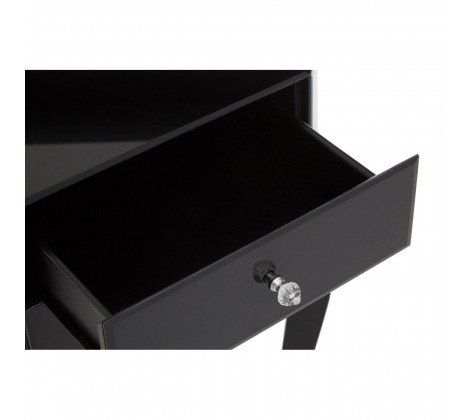 Cattleya Black Glass Side Table