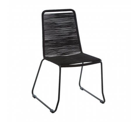 Cecil Full Black Rope Dining Chair