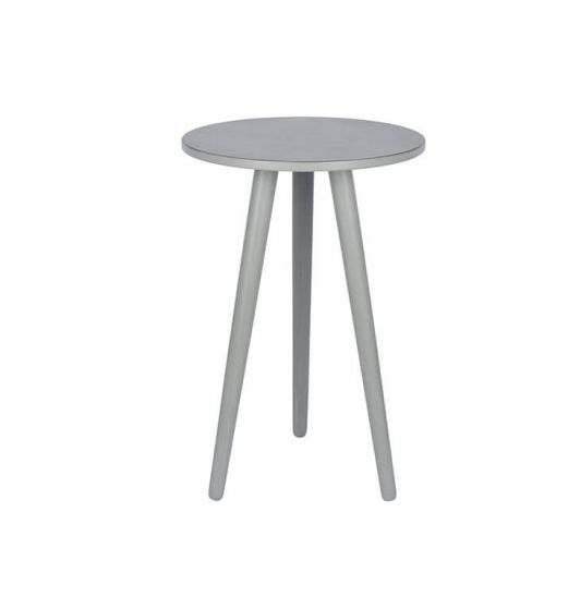 Chiara Grey Pine Round Side Table