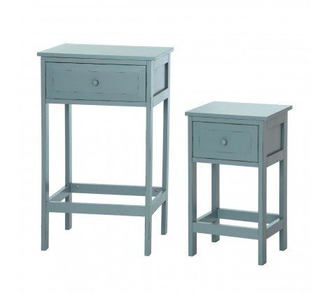 Chatelet Set Of 2 Tables - Blue/Grey