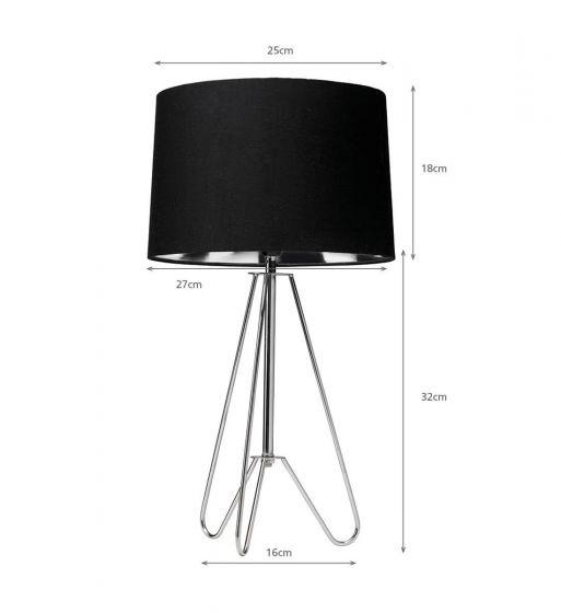 Retro Wire Tripod Table Lamp