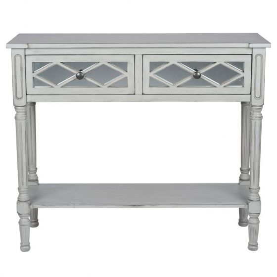 Clara Grey Mirrored Console Table