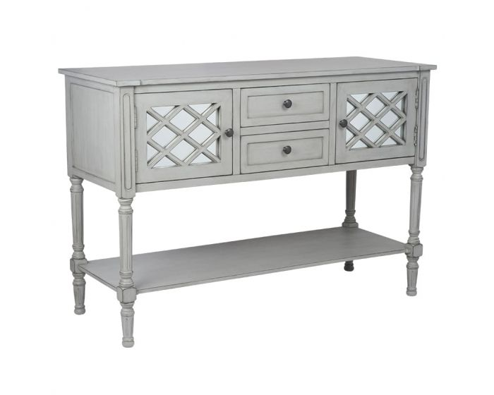 Clara Grey Mirrored Dressing Table