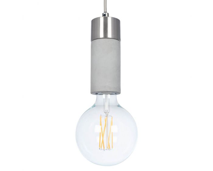 Concrete Bulb Holder Pendant
